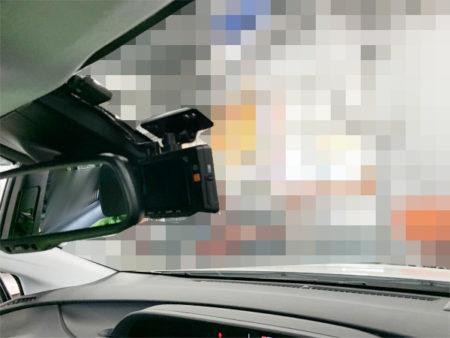 50プリウスのフロントドライブレコーダーの取り付け位置
