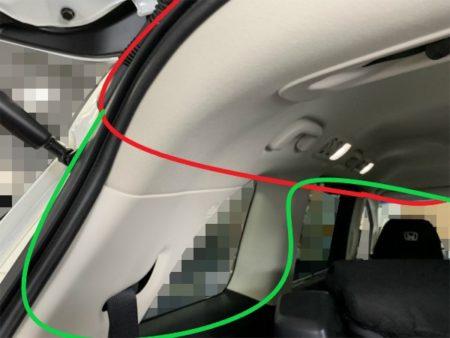オデッセイのリアドライブレコーダーの配線