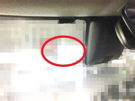 キャストフロントドライブレコーダーの取り付け位置