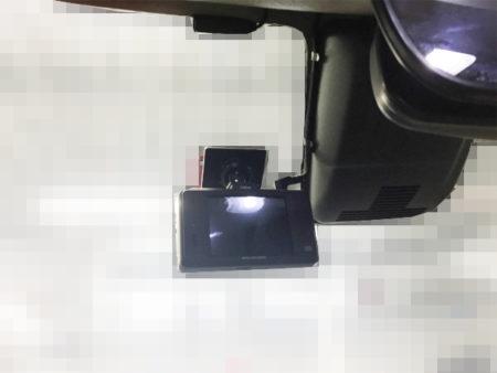 キャストフロントドライブレコーダーの固定位置